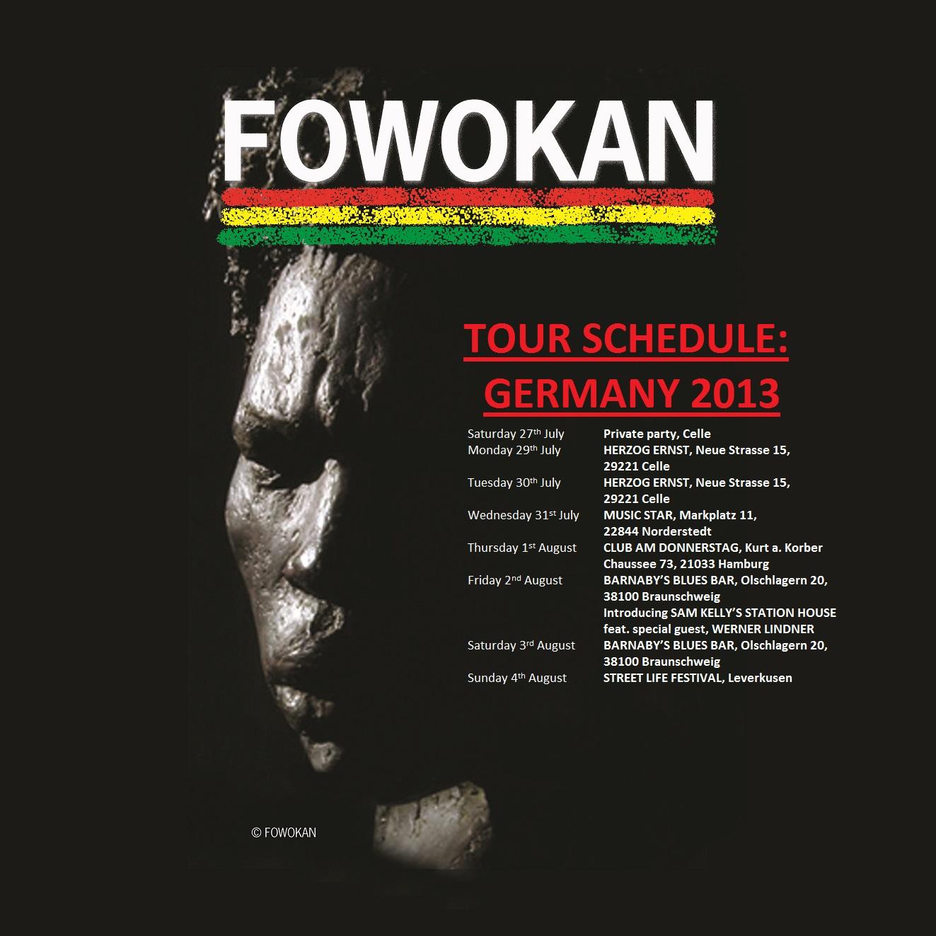 FOWOKAN TOUR SCHEDULE